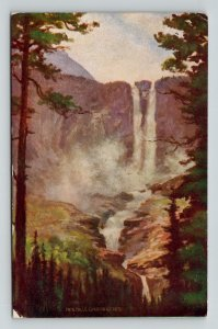 Twin Falls Canadian Rockies Troilene Mountain Series Notman MacFarlane Postcard