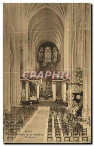 Postcard Old Ghent Interior of St Bavo's Cathedral