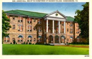 VA - Harrisonburg. Madison College, Junior Hall Dorm.