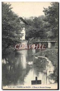 Old Postcard Cambo Les Bains L & # 39Etang And Moulin D & # 39Arnaga