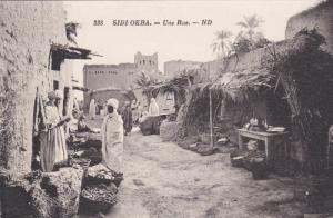 SIDI-OKBA, Algeria, 1900-1910's; Une Rue, Market