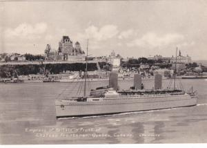 Empress Of Britain in front of Chateau Frontenac, QUEBEC, Canada, 30-40s