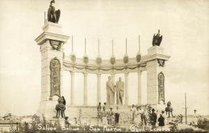 ecuador, GUAYAQUIL, La Rotonda de Bolívar y San Martin (1930s) RPPC