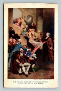 Jamestown Exposition 1907 No. 31 Patrick Henry at House of Burgesses Postcard