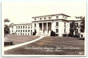 VTG Postcard RPPC Real Photo Iowa State College Ames IA Economics Building A5