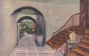 Louisiana New Orleans Old Stair Way Patio Royal 1947