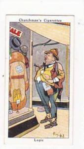 Churchman Vintage Cigarette Card Howlers No 22 Logic  1937