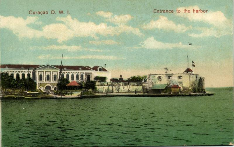 curacao, D.W.I, WILLEMSTAD, Entrance to the Harbor (1910s)