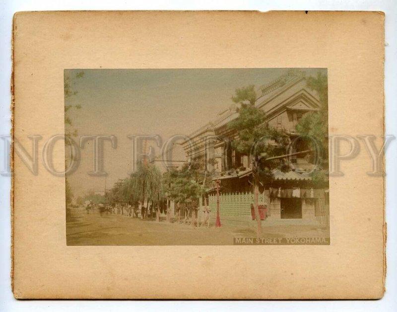 3130528 Japan YOKOHAMA Main Street Rickshaw rickshas TWO PHOTOS