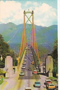 Canada British Columbia Vancouver The Lions Gate Bridge Connects Vancouver An...