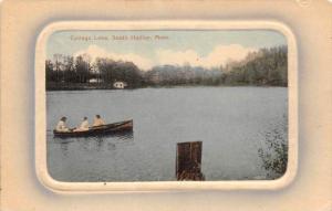 26184 MA, South Hadley, 1920, College Lake, women on row boat on lake