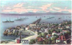 Rosia Bay & Ships, Gibraltar, Divided Back