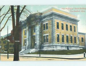 Unused Divided-Back NEWLY BUILT REGISTRY OF DEEDS BUILDING New Bedford MA p0912