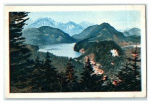 Hohenschwangau, Beautiful German Landscapes, Echte Wagner Trade Card *VT31W