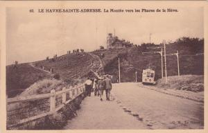 Le Havre-Sainte-Adresse, Seine Maritime, France, 1900-10s; Road to Lighthouse