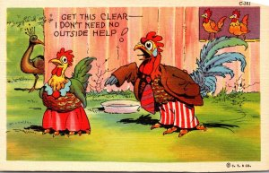 Humour Chickens Get This Clear I Don't Need No Outside Help Curteich