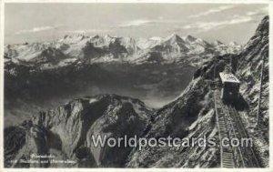 Pilatusbahn Matthorn und Berneralpen Swizerland 1938