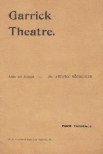 The Morals Of Marcus William Locke Drama London Garrick Theatre Programme