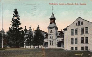 Collegiate Institute, Guelph, Ontario, Canada, Early Postcard, Used in 1911