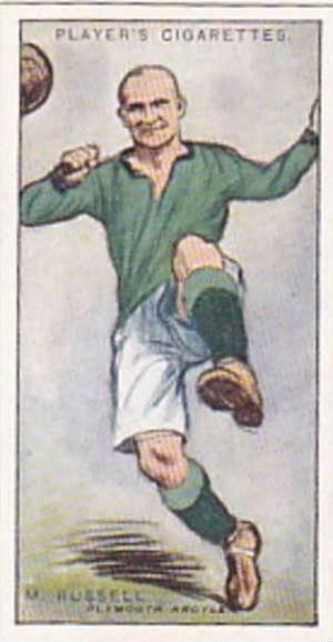 Player Vintage Cigarette Card Footballers 1928 No 39 Moses Russell Plymouth A...