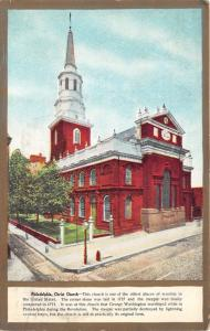 Philadelphia Pennsylvania~Christ Church~George Washington-Revolution~1911 Pc