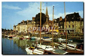 Modern Postcard Honfleur The Vieux Bassin and the Quai St Etienne Charter