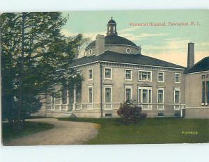 Unused Divided Back HOSPITAL SCENE Pawtucket Rhode Island RI J9793