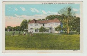 GOLF 1915-30 De Land FL College Arms Country Club & Golf Course Postcard