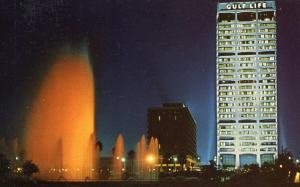FL - Jacksonville.  Fountain of Friendship at night
