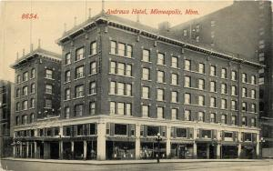 Vintage Postcard Andrews Hotel Minneapolis MN Hennepin County Minnesota
