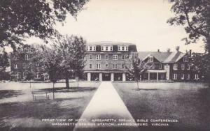 Virginia Harrisonburg Front View Of Hotel Massanetta Springs Bible Conference...