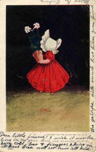 Sunbonnet Girls - April - Artist: Wall