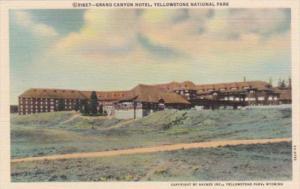 Grand Canyon Hotel Yellowstone National Park Curteich