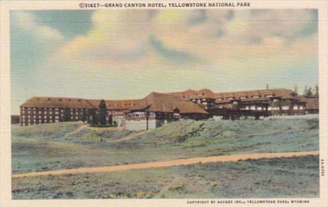Grand Canyon Hotel Yellowstone National Park Curteich