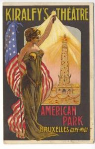 Bruxelles Gare-Midi Kiralfy's Theatre American Park Poster Type Postcard