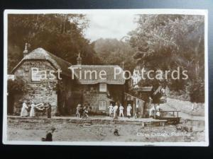 Isle of Wight SHANKLIN BEACH Fishermans Cottage CHINE COTTAGE - Old RP Postcard