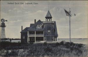 Saybrook CT Hartord Yacht Club c1910 Postcard