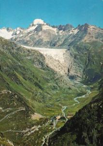 Switzerland Rhonegletscher mit Galenstock und Gletsch
