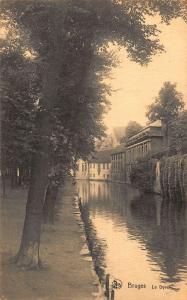 Belgium Bruges Le Dyver River Promenade Postcard