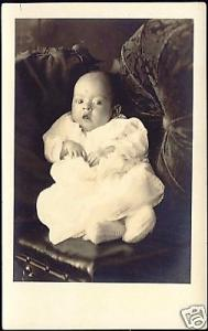 Sweet Little BABY CHILD DRESS Real Photo (1910s) RPPC