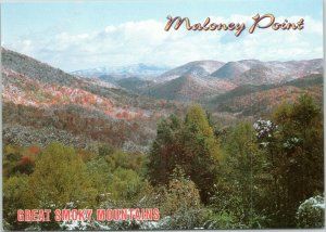 postcard NC Great Smoky Mountains - Maloney Point Overlook