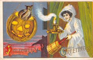 Halloween Post Card Old Vintage Antique 1912