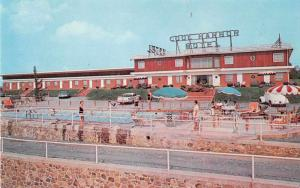 Front Royal Virginia swimming pool Cool Harbor Motel vintage pc Y15676