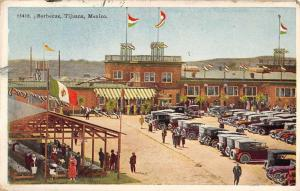 Tijuana Mexico Barbecue Scene City Square Antique Postcard K12080