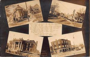 Boston MA Photographers Advertising Multi-View RPPC Postcard.