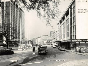 Vintage Real Photo Postcard, c1965 Park Lane Croydon, Surrey, London 54Z