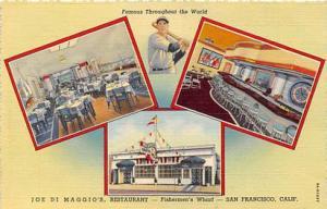 Joe Di Maggio, Restaurant, Fisherman's Whaft, San Francisco, California, USA...