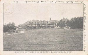 Hospital Cottages for Children, Baldwinvile, Mass., Early Postcard, Used in 1906