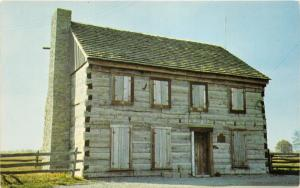 Centerville Indiana~Origianl Northwest Territory Court House~Info Back~Postcard