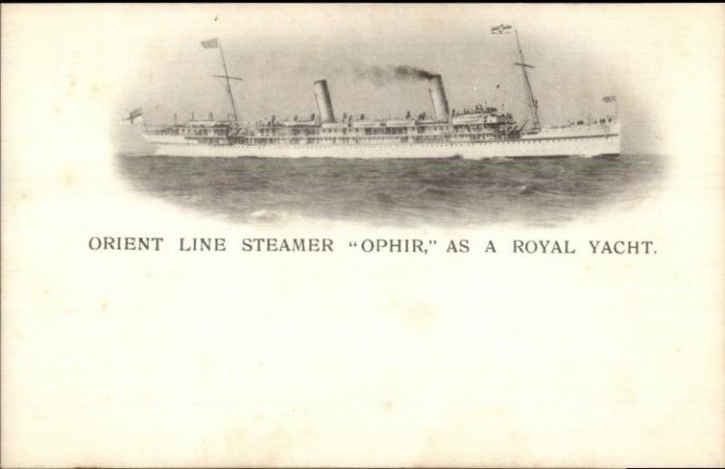 Orient Line Steamship Ophir Royal Yacht c1905 Postcard